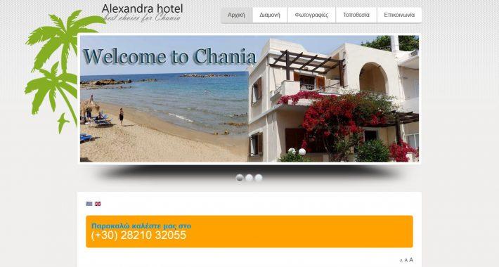 Κατασκευή ιστοσελίδας Alexandra-hotel.gr & διασύνδεση με Hotel-RES