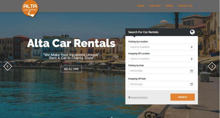 Κατασκευή ιστοσελίδας Altacarrentals.gr