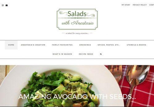 Κατασκευή ιστοσελίδας Saladswithanastasia.com