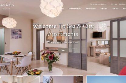 Κατασκευή ιστοσελίδας Seaandcity.gr & διασύνδεση με Hotel-RES
