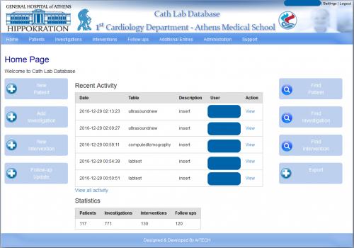 Online Σύστημα Διαχείρισης Κλινικών Δεδομένων Ασθενών