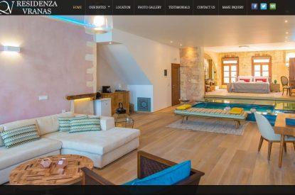 Κατασκευή ιστοσελίδας Vranasresidenza.com & διασύνδεση με Hotel-RES
